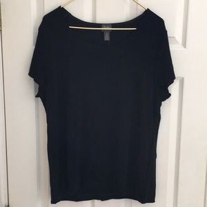 NWT Chico's size 3 Travelers black top shirt xl 16